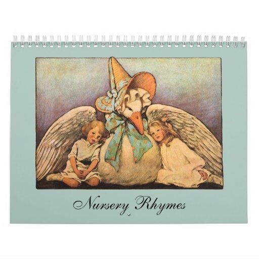 2012 Vintage Nursery Rhymes; Mother Goose Wall Calendars