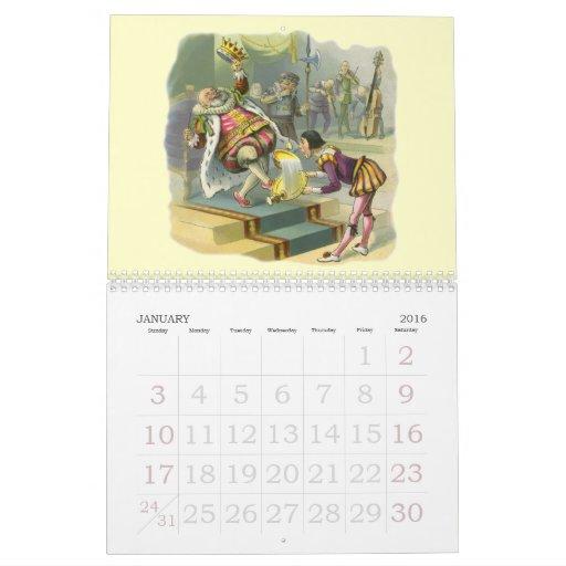 2012 Vintage Nursery Rhymes; Mother Goose Calendar