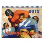2012 Vintage Sports, Football Baseball Basketball Calendar