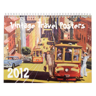 2012 Vintage Travel Posters Wall Calendar