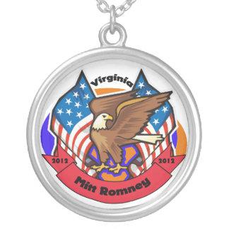 2012 Virginia for Mitt Romney Round Pendant Necklace