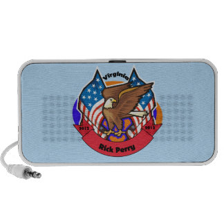 2012 Virginia for Rick Perry iPod Speaker