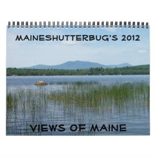 2012 vistas del calendario de Maine