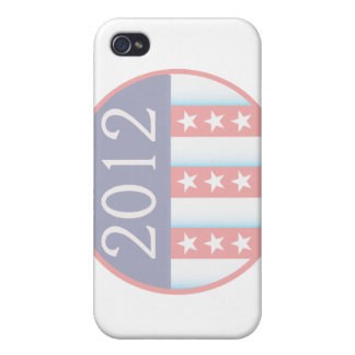 2012 Vote Election Round Seal Red Blue faded Case For iPhone 4