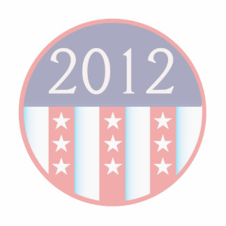 2012 Vote Election Round Seal Red Blue faded Cut Out