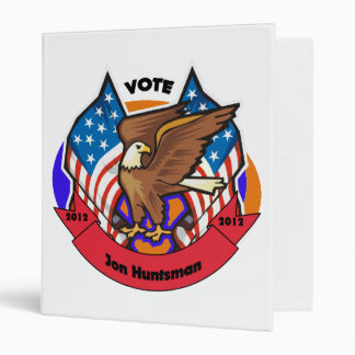 2012 Vote for Jon Huntsman 3 Ring Binder