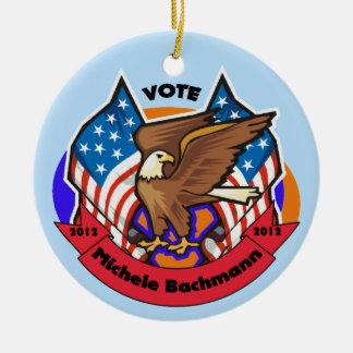 2012 Vote for Michele Bachmann Ceramic Ornament
