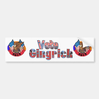 2012 Vote for Newt Gingrich Bumper Stickers