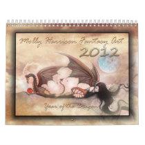 2012 Wall Calendar Dragons and Fairies