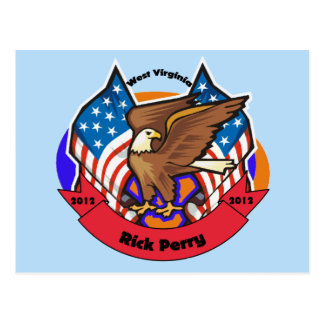 2012 West Virginia for Rick Perry Postcard