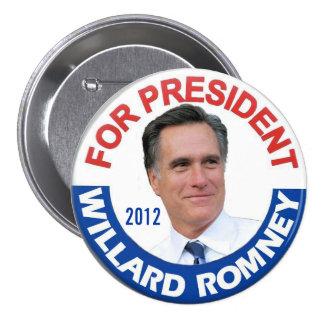 2012 Willard Mitt Romney Pinback Button