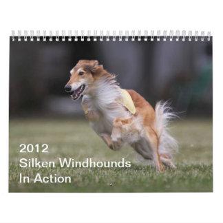 2012 Windhounds de seda en calendario de la acción