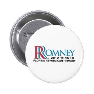 2012 Winner Florida Primary Pinback Button