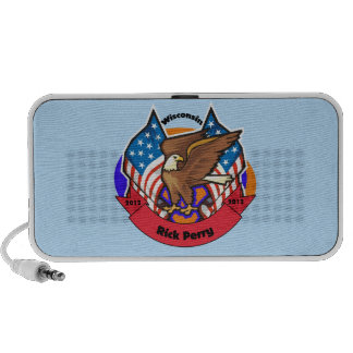 2012 Wisconsin for Rick Perry Portable Speakers