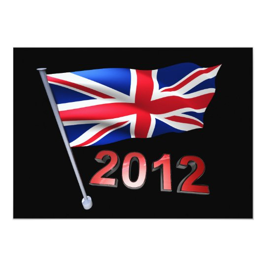 2012 with Britain flag Card