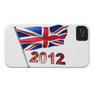 2012 with Britain flag iPhone 4 Case-Mate Case