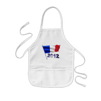 2012 with French flag Apron