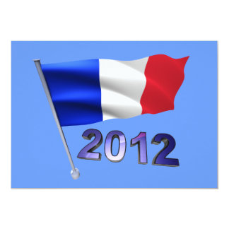 2012 with French flag Card
