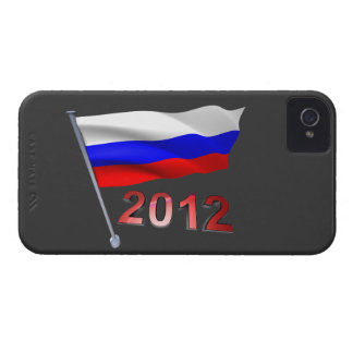 2012 with Russian flag iPhone 4 Case