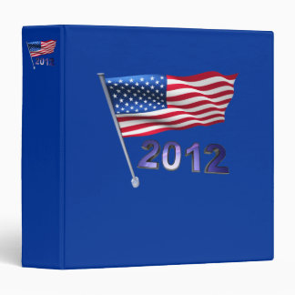 2012 with USA flag 3 Ring Binder