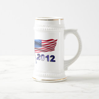 2012 with USA flag Beer Stein