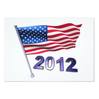 2012 with USA flag Card