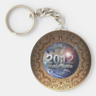 2012 world ends keychain