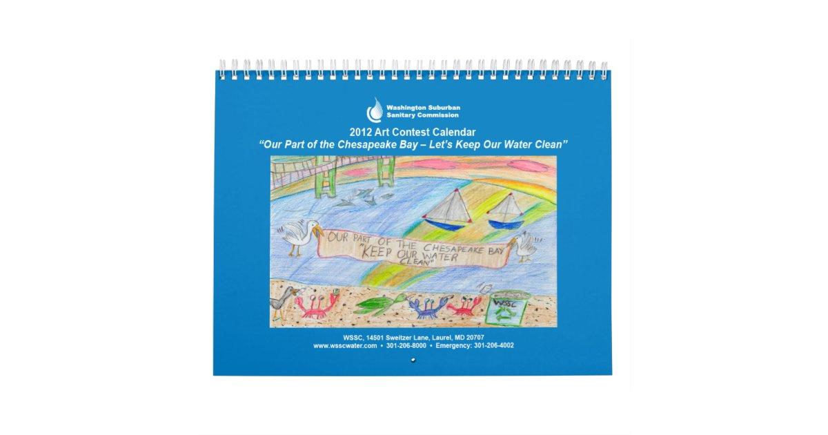Calendar Drawing Contest : Wssc art contest calendar zazzle