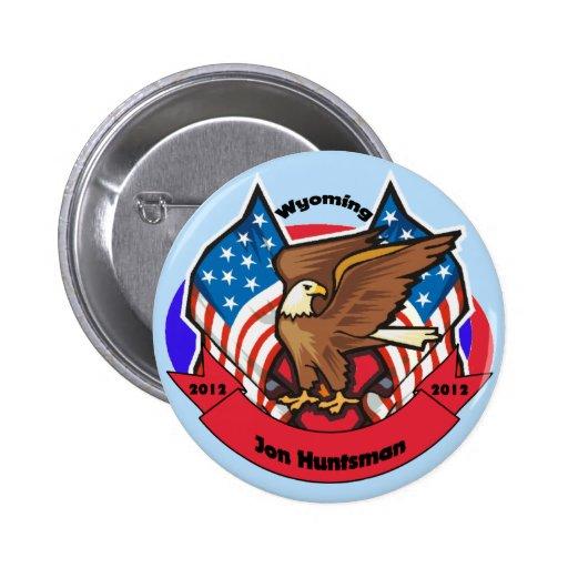 2012 Wyoming for Jon Huntsman Button