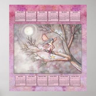 2012 Year Calendar Fairy Poster for Little Girls