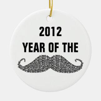 2012 Year of The Mustache Ceramic Ornament