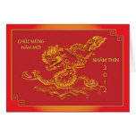 2012 Year of the water dragon, vietnamese greeting Cards