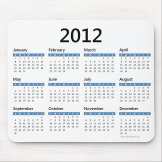 2012 Yearly Calendar Mouse Pad