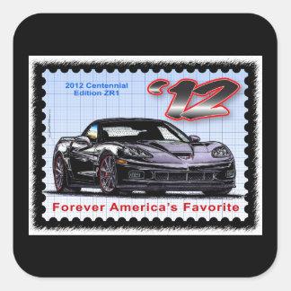 2012 Z06 Centennial Edition Corvette Square Sticker