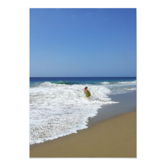 20130215 BODYBOARDING BOGGIEBOARDING SOSUA BEACH O 5X7 PAPER INVITATION CARD