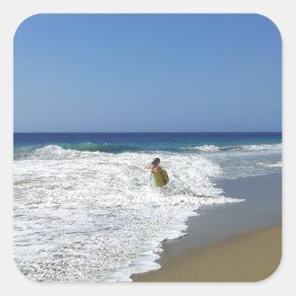 20130215 BODYBOARDING BOGGIEBOARDING SOSUA BEACH O SQUARE STICKER