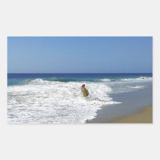 20130215 BODYBOARDING BOGGIEBOARDING SOSUA BEACH O RECTANGULAR STICKER