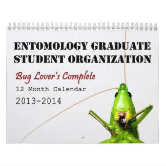 2013-14 Bug Lover's 12 Month Calendar - EGSO