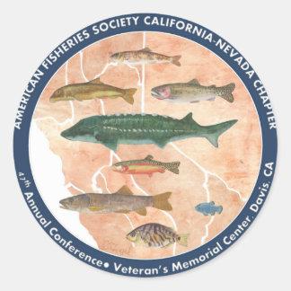 2013 47th Annual California-Nevada AFS Conference Classic Round Sticker
