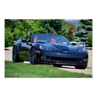 2013 60th Anniversary C6 Corvette 427 convertible Poster