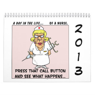 """2013 """"A Day in the Life"""" Office Comic Strip Funny Calendar"""