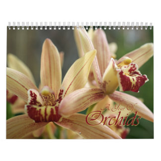 2013 A Year of Orchids floral photography calender Calendar