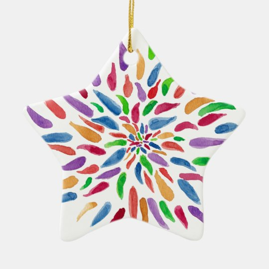 2013 Abstract Floral Ceramic Ornament