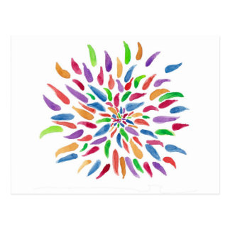 2013 Abstract Floral Postcard