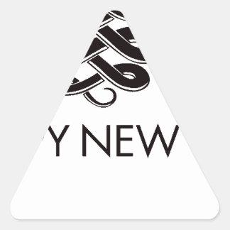 2013 - Año de la serpiente Pegatina Trianguladas Personalizadas