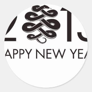 2013 - Año de la serpiente Etiqueta Redonda