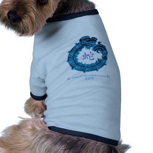 2013 años de la serpiente de agua camiseta con mangas para perro