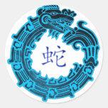 2013 años de la serpiente de agua etiqueta redonda