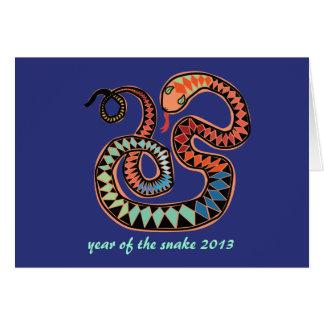 2013 años de la tarjeta de felicitación de la serp
