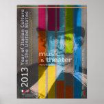 2013 años de poster italiano de Giuseppe Verdi de